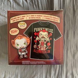 Funko Pennywise T-Shirt & Figure - BNIB